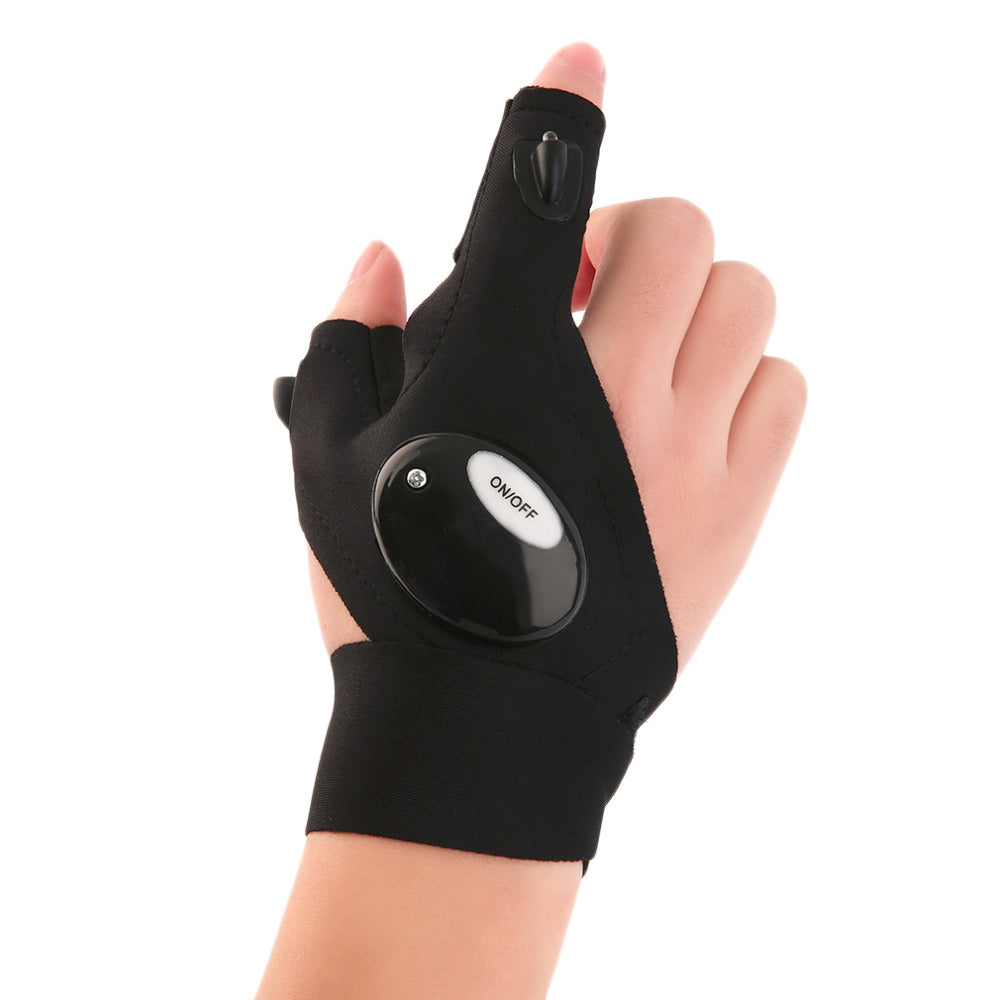 Sciacallo Bikes - Magic Strap Fingerless Glove LED