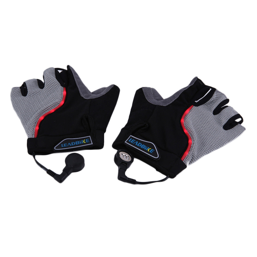 Sciacallo Bikes - Leadbike Half Finger Anti-slip LED Light Cycling Gloves