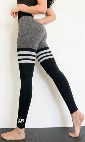 WAR READY LEGGINGS GRAY & BLACK
