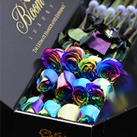 Unique Rainbow Roses Delivery