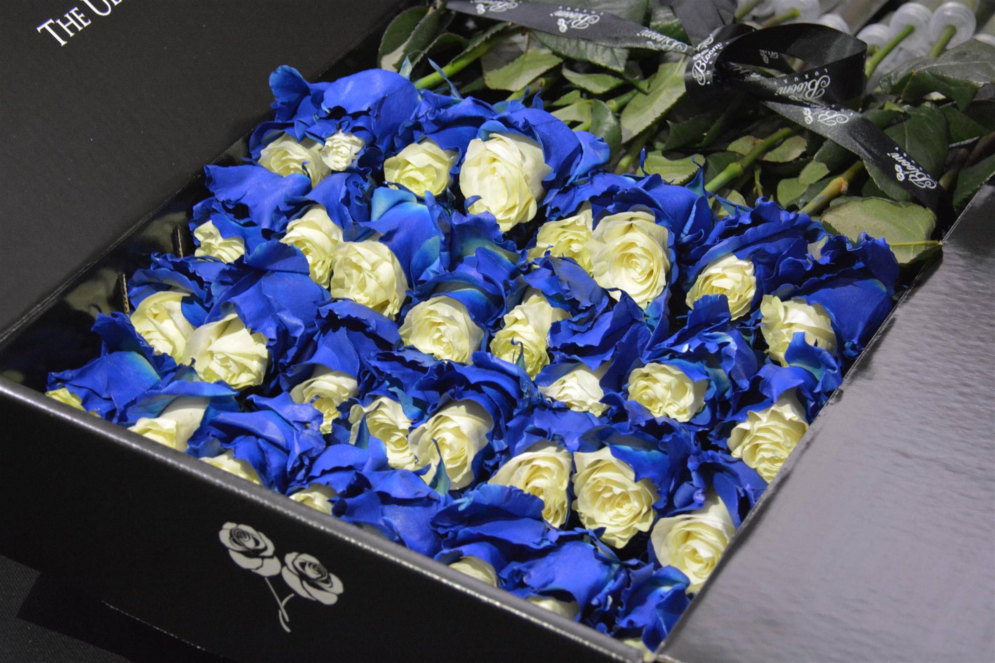 rose arrangements in a box