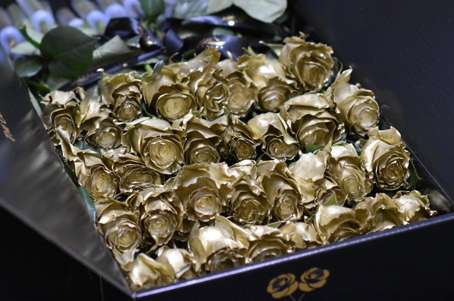 luxury flowers in a box
