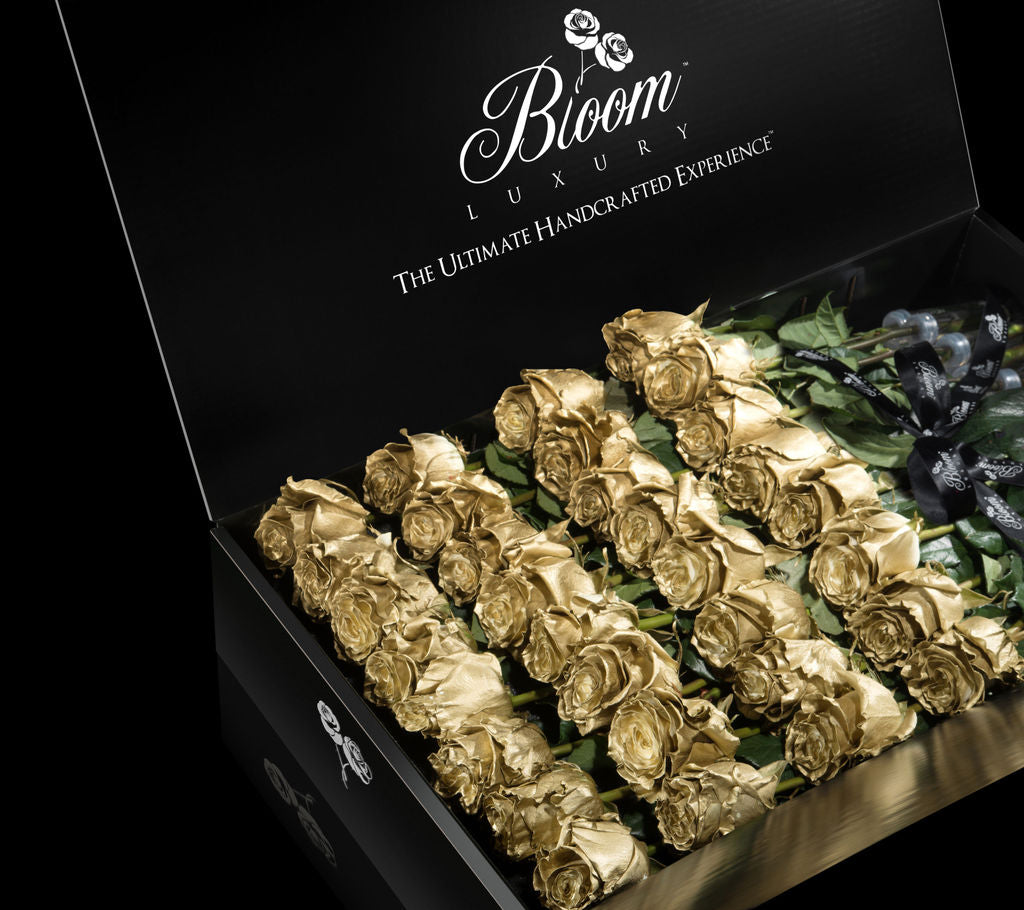 Metallic Collection Long Stem Luxury Roses in a Box