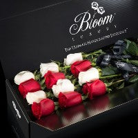 Originale Striped box of roses delivery