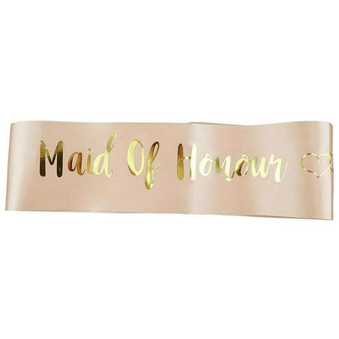"""Maid of Honour"" Sash"