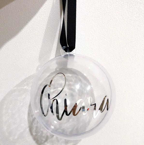 PERSONALISED FILLABLE BAUBLES