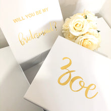 Load image into Gallery viewer, BRIDAL PROPOSAL GIFT BOX - WHITE