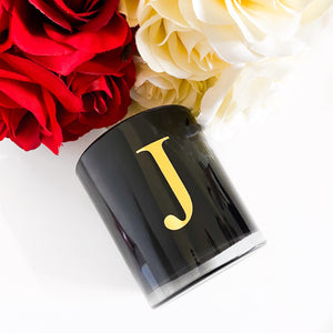 Personalised Letter Candle (Black) - 300g