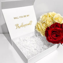 Load image into Gallery viewer, SMALL BRIDAL PROPOSAL GIFT BOX - WHITE
