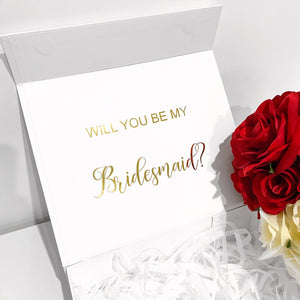 SMALL BRIDAL PROPOSAL GIFT BOX - WHITE