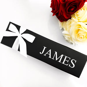 PERSONALISED WINE BOX - BLACK
