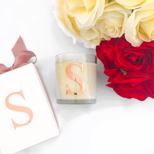 PERSONALISED LETTER CANDLE