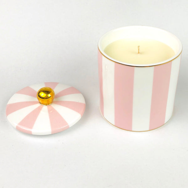 Cristina Re Candle - Blush Stripe