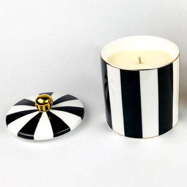 Cristina Re Candle - Ebony Stripe