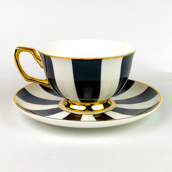 Cristina Re Teacup - Ebony Stripes