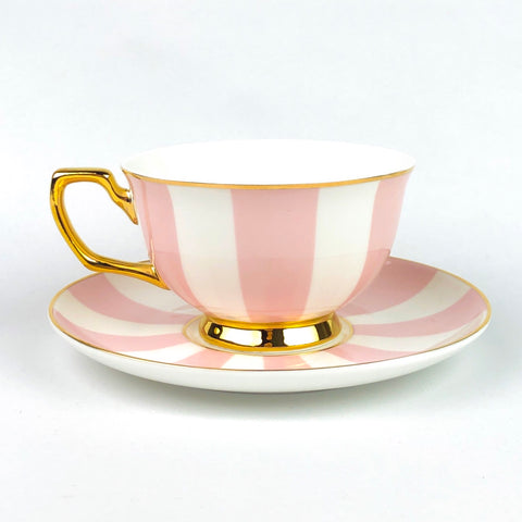 Cristina Re Teacup - Blush Stripes