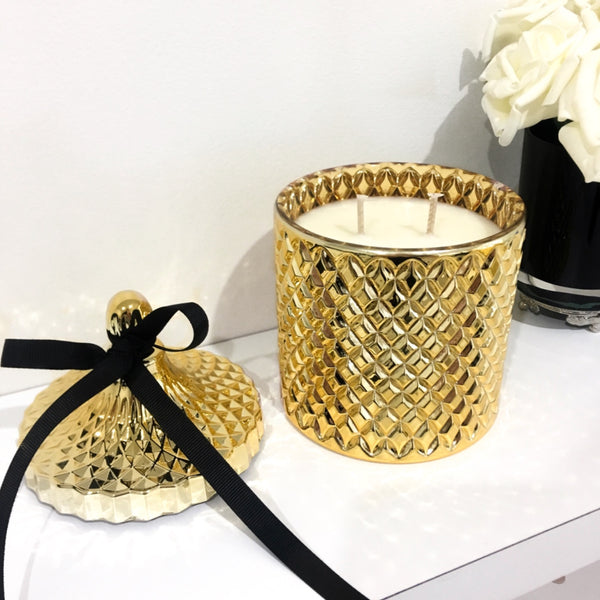 GOLD GEO CANDLE