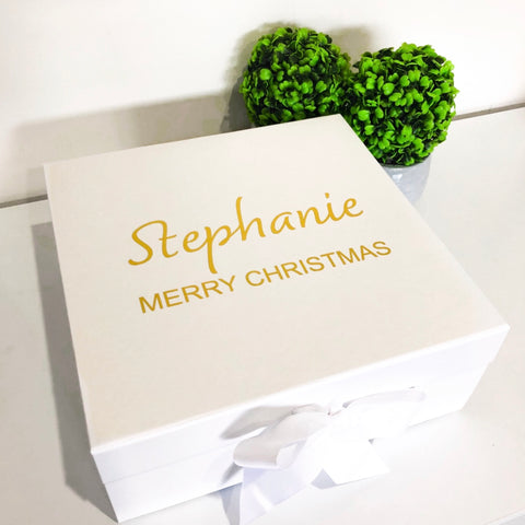 MERRY CHRISTMAS NAME - GIFT BOX