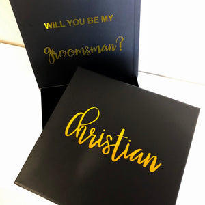 BRIDAL PROPOSAL GIFT BOX - BLACK