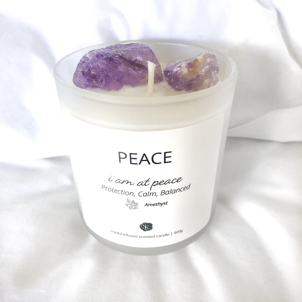 AMETHYST Candle - Peace, Protection, Balance