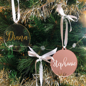 Flat Acrylic Ornament - Clear