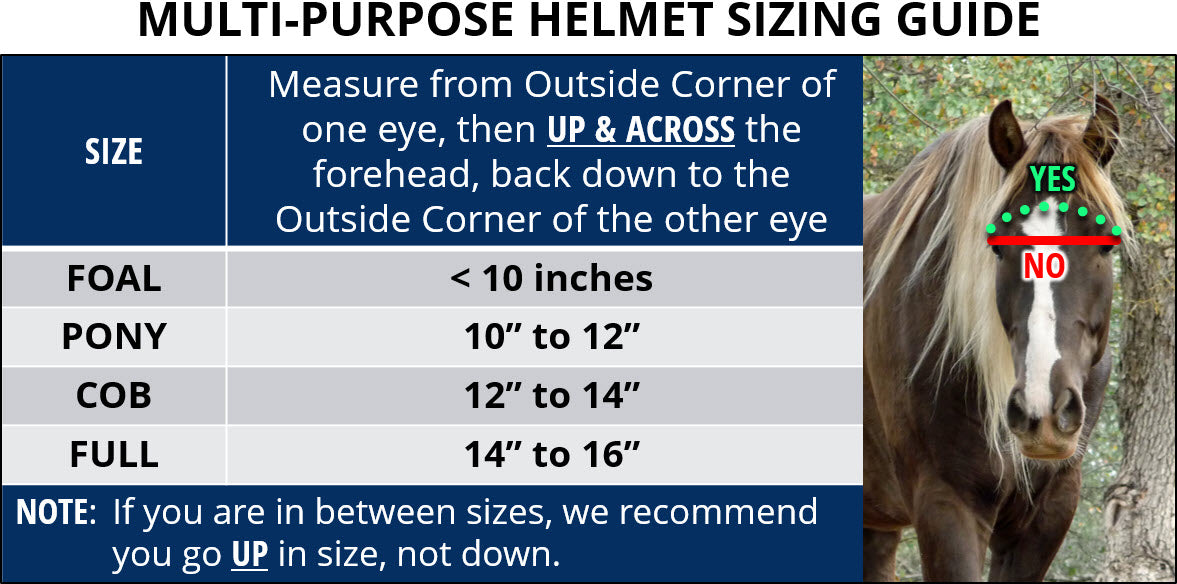 Multi-Purpose Helmet Sizing Guide