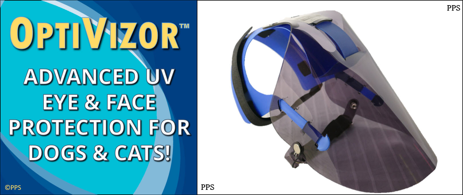 OptiVizor UV Eye and Face Protection For Dogs and Cats Long Snout