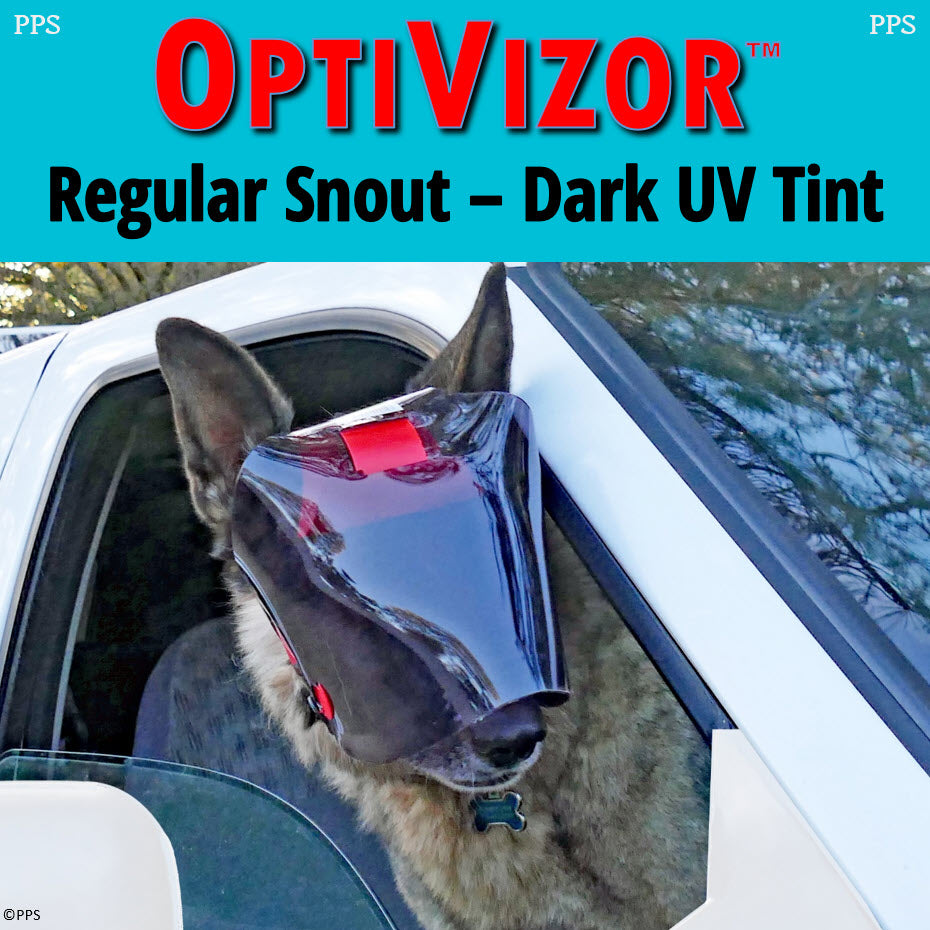 OptiVizor UV Eye and Face Protection for Dogs and Cats Dark Tint