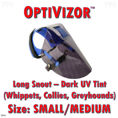 OptiVizor UV Eye and Face Protection for Dogs Dark Tint