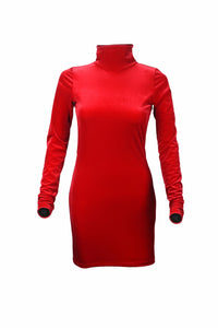BACK CARESS DRESS - RED