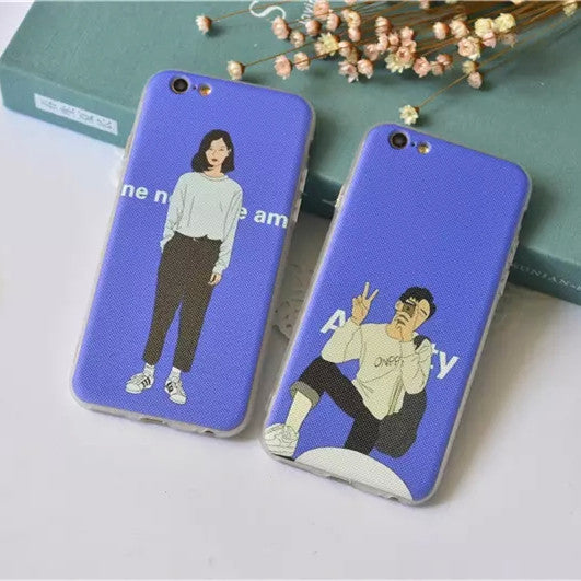 newest 8f19c fdeee Hot Deal Cute Hot Sale On Sale Stylish Iphone 6/6s Korean Couple Apple  Simple Design Iphone Soft Phone Case [8864261127]