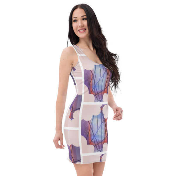 Above the clouds Pencil Dress