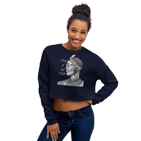 Chief Of My Tribe Crop Sweatshirt