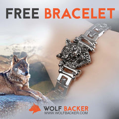 New Stainless Steel Wolfbacker Bracelet