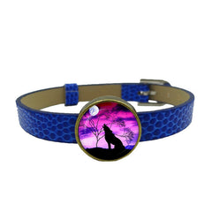 Wolf Art Image Cuff Leather Bracelets
