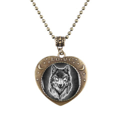 New Adorable Wolf Heart Necklace!