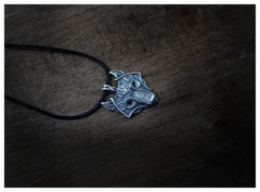 New Wolf Backer Head Necklace