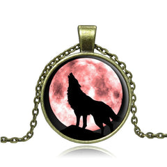 Wolf  Vintage Bronze  Chain Necklace
