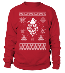 Wolf Ugly Christmas Sweater-designed Shirt