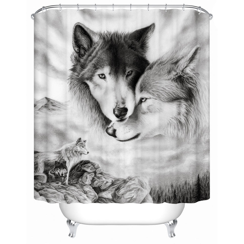 Wolf Lovers Shower-Curtain