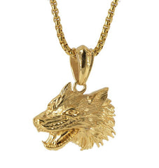 Pack Leader Fierce Wolf Necklace