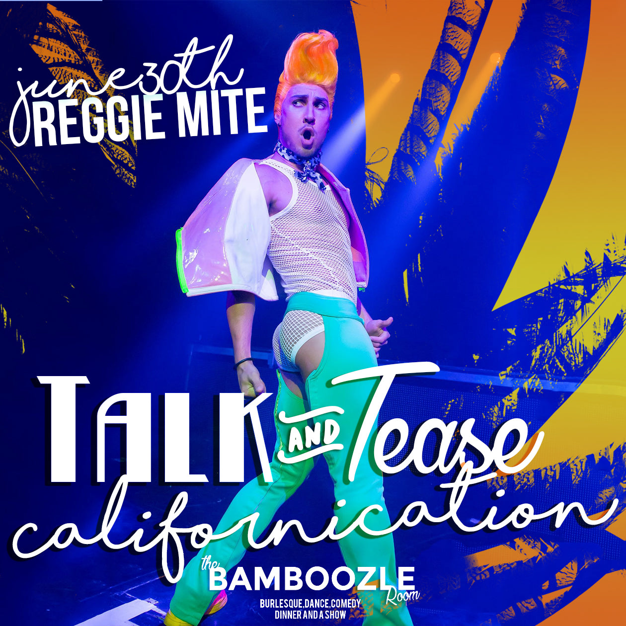 Talk and Tease Californication - Comedy VS Burlesque - Tickets - Burlesque Sydney- The Bamboozle Room