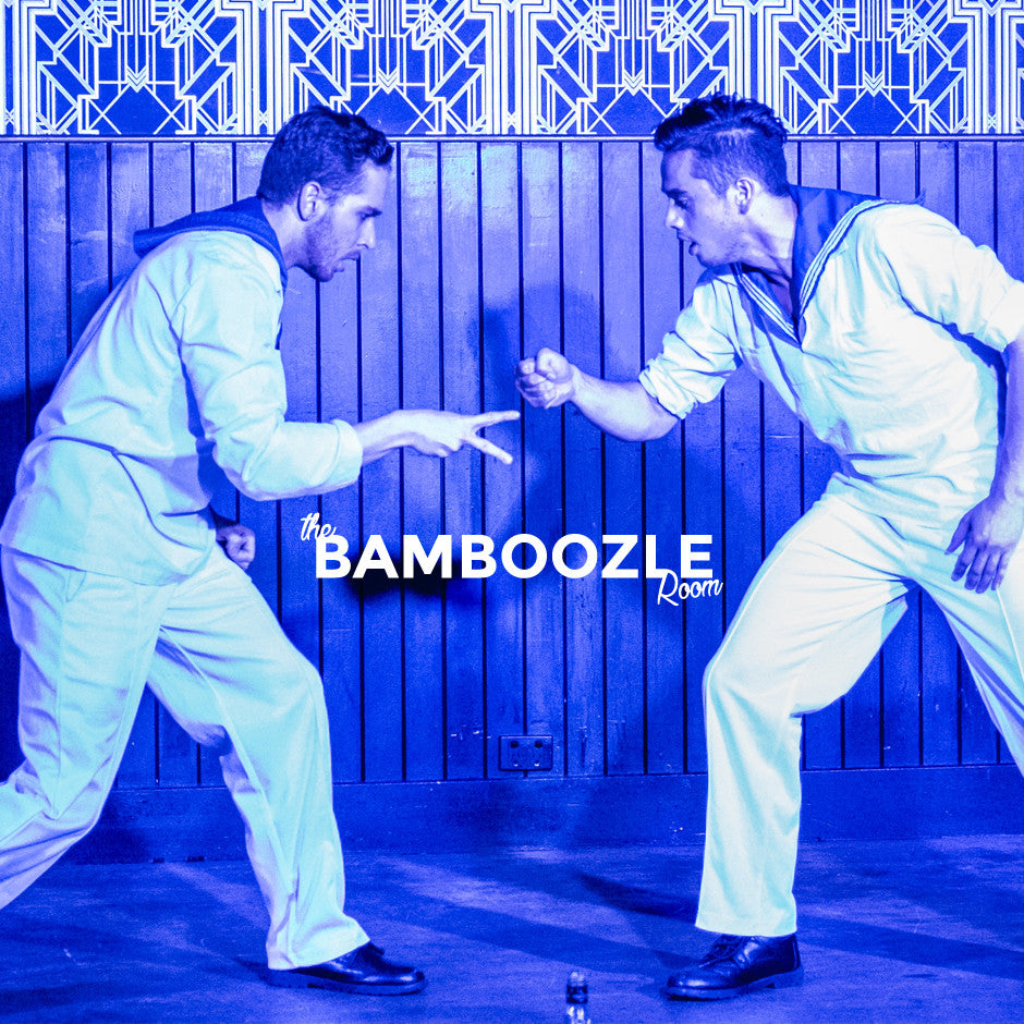 sailor boys rock off in burlesque the Bamboozle Room in Sydney