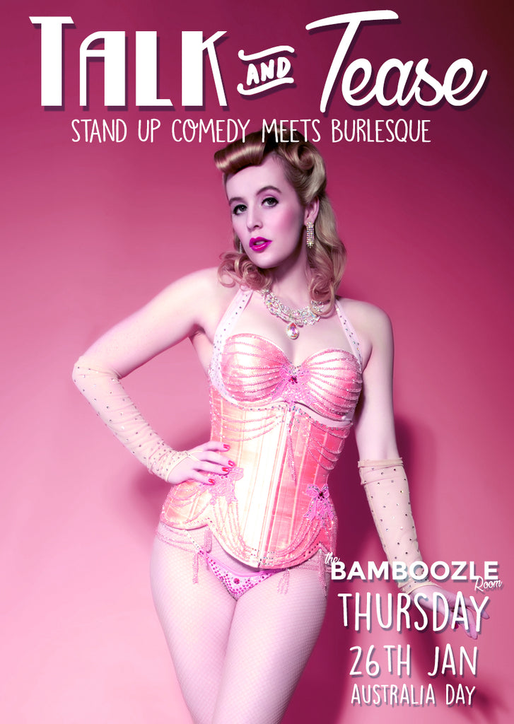 Talk and Tease - Australia Day Special - Thursday 26th Jan - Tickets - Burlesque Sydney- The Bamboozle Room