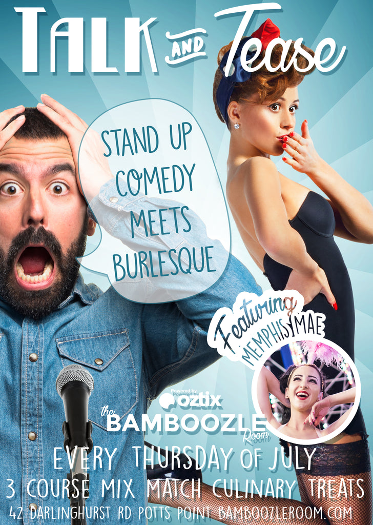 Talk and Tease First Edition - Tickets - Burlesque Sydney- The Bamboozle Room