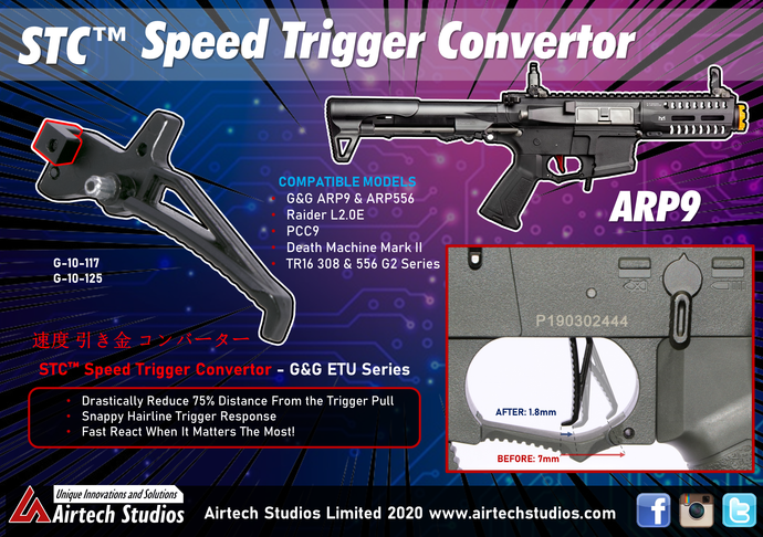 Speed Trigger Converter (STC™) - G&G ARP9 & all CM16 / TR16 ETU Series