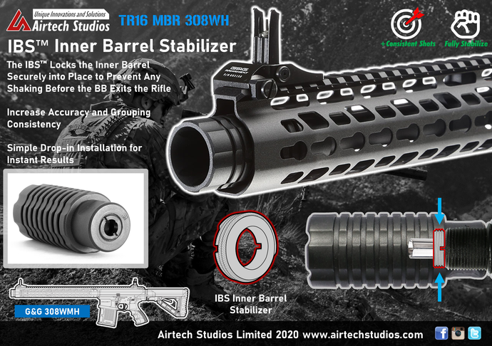 G&G TR16 MBR 308WH IBS™ Inner Barrel Stabilizer