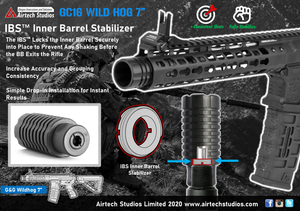 "G&G CM16 Wildhog 7"" IBS™ Inner Barrel Stabilizer (Pre-order Available Now!)"