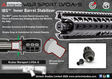 Laden Sie das Bild in den Galerie-Viewer, Krytac LVOA-S Warsport IBS™ Inner Barrel Stabilizer