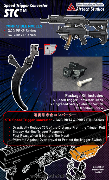 STC Speed Trigger Converter - Designed for the G&G PRK9 & RK74 Series